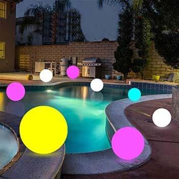 10: LOFTEK Solar Floating Pool Lights Ball