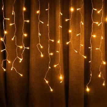 9: SUPSOO LED Solar Icicle String Lights