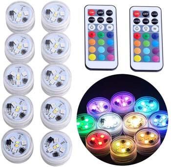 8: KUCAM Waterproof LED Tea Lights Candle
