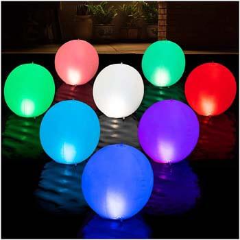 3: HAPIKAY Solar Floating Pool Lights