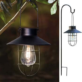 9: EKQ ROJOY Hanging Solar Lights Lantern Lamp