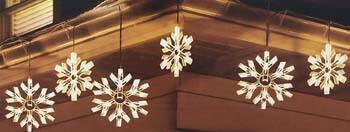 6: DuraCasa 90 Twinkling Snowflake Lights Icicle Light Set