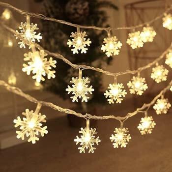 4: BIMOUR Christmas Lights, Snowflake String Lights