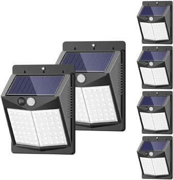3: SEAZAC Solar Lights Outdoor, [6 Pack/3 Modes/50LED] SEZAC Motion Sensor Security Lights