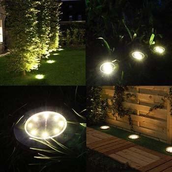 2: Dekugaa Solar Ground Lights - 8 LED Solar Garden Lights