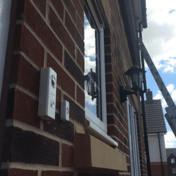Hikvision wifi doorbell on house