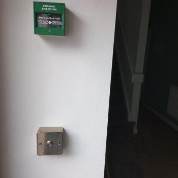 door entry system break glass button