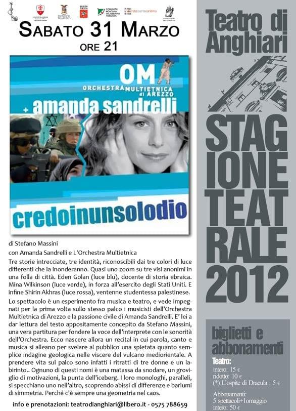 locandina-amanda-sandrelli-credo-in-un-solo-dio-teatro-anghiari-stagione-2012