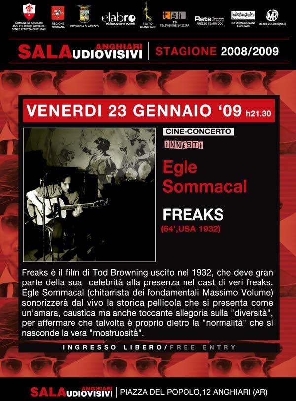 locandina-freaks-egle-sommacal-cine-concerto-sala-audiovisivi-stagione-2008-09