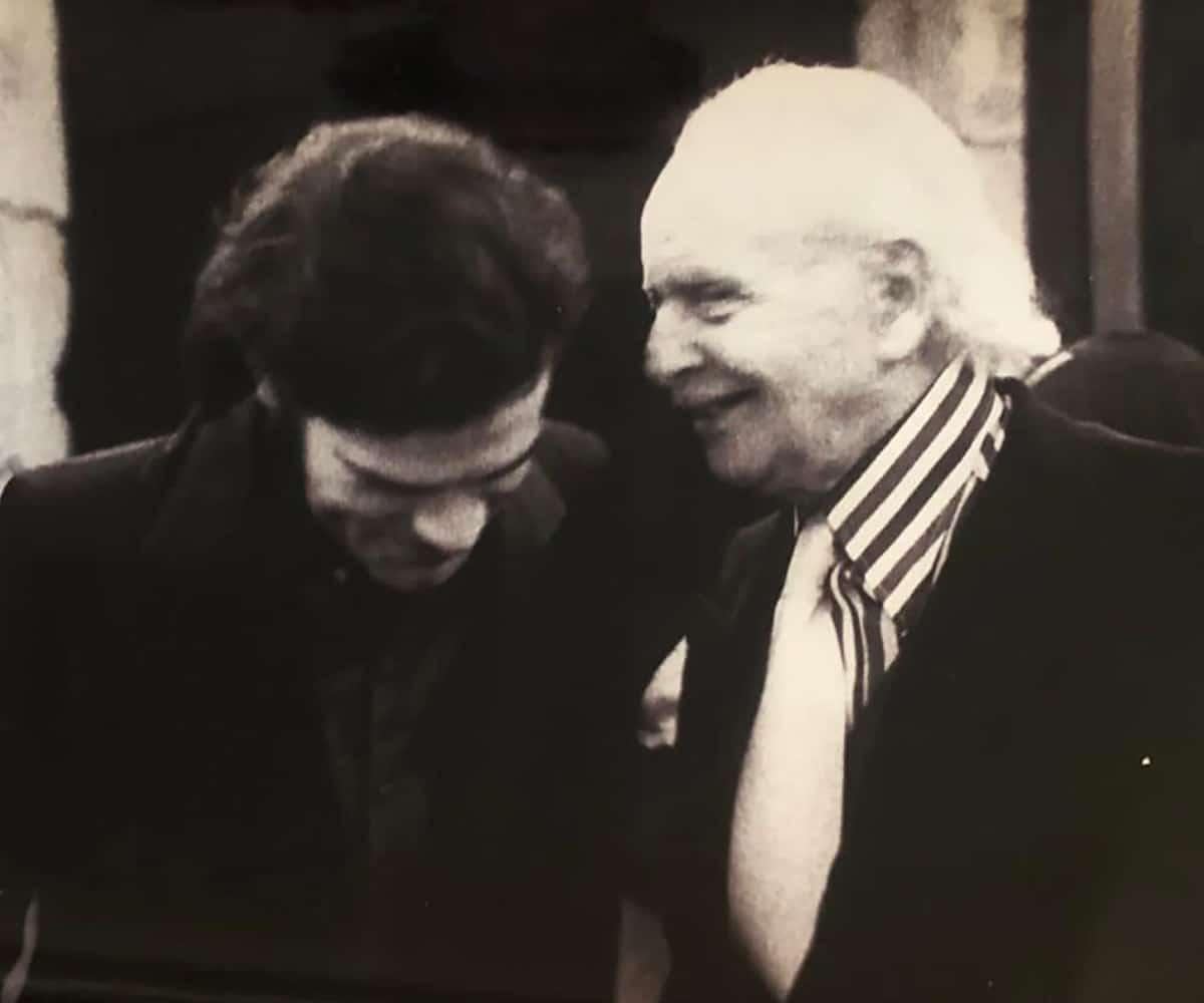 Avec Louis Aragon en 1974. Photo: Claude Gaspari