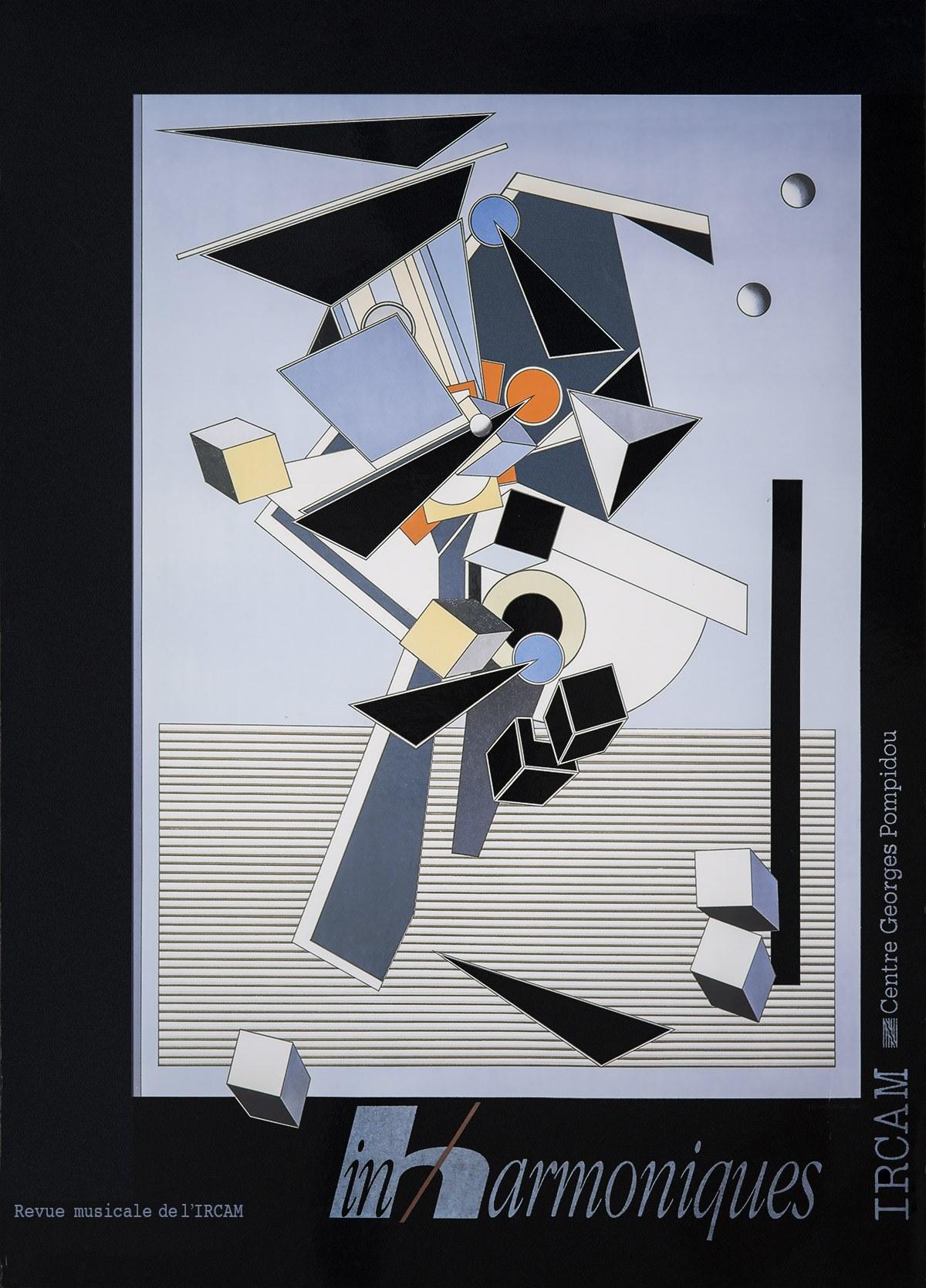 Affiche pour Inharmoniques n°7, IRCAM, 1991. Archives Le Yaouanc. Photo: Allen Le Yaouanc