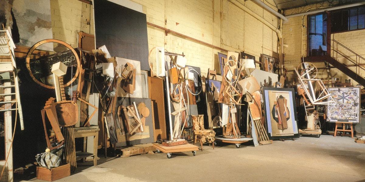 L'atelier, vers 1992. Archives Le Yaouanc