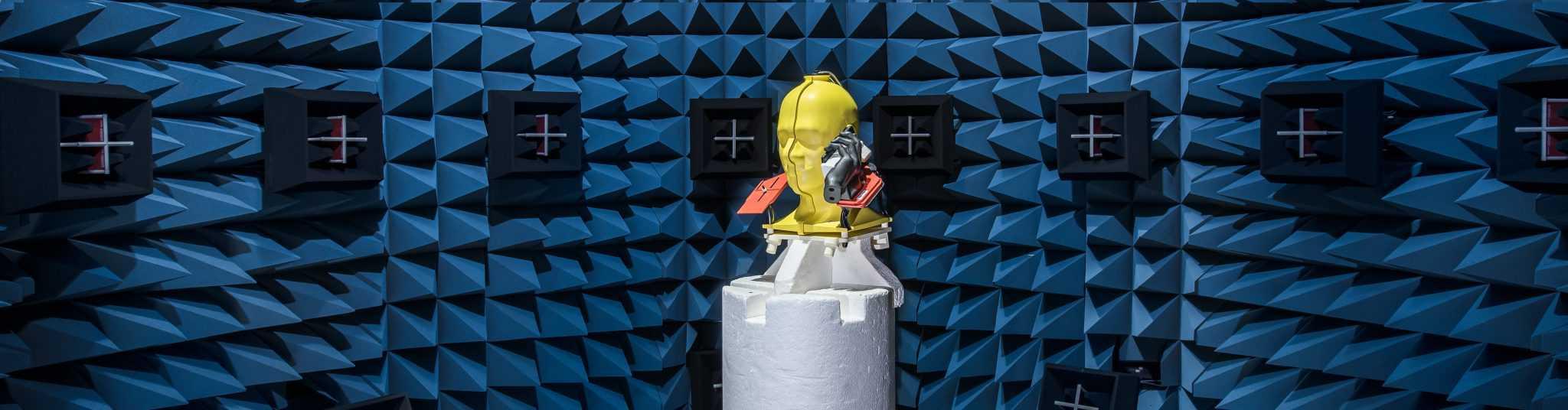 Yellow OTA robot in OTA laboratory