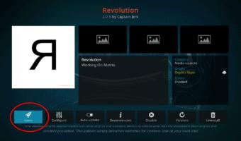 Revolution Addon on Kodi