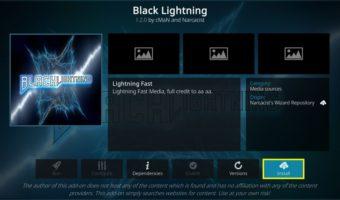 install Black Lightning addon on Kodi