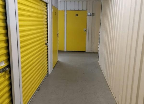 Storage yellow wall