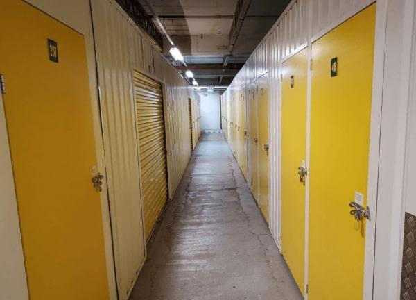Storage yellow doors