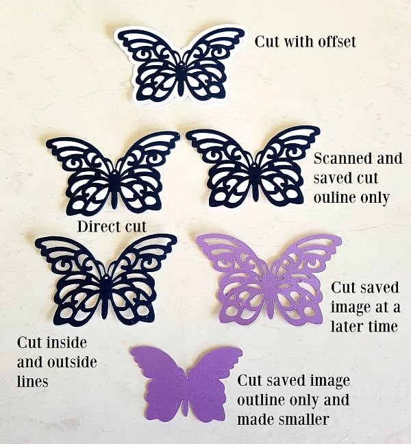 Butterflies scanned and cut with the Scan N Cut machine