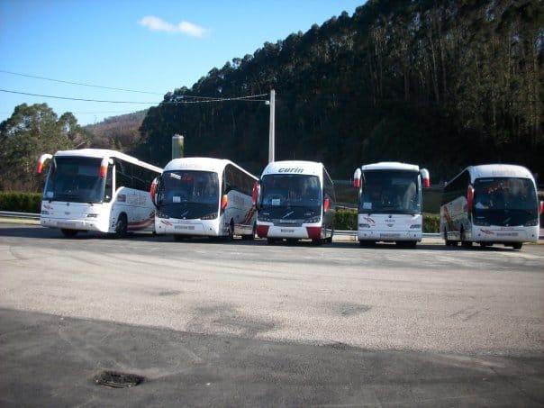 Curin Bus alquiler de autocares y microbuses en Oviedo Asturias vehículos