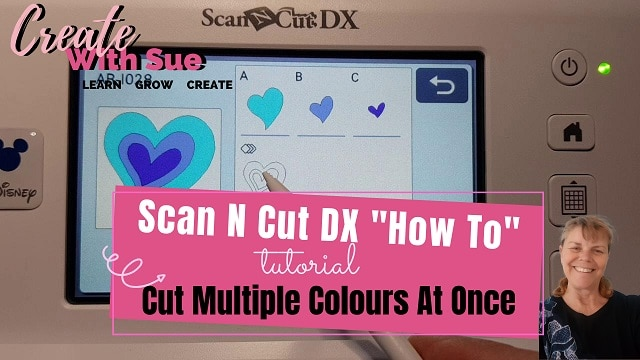 How to cut multiple colors on one mat. Scan N Cut DX main pic