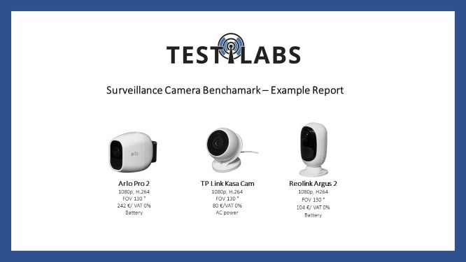 Surveillance Camera Benchamark