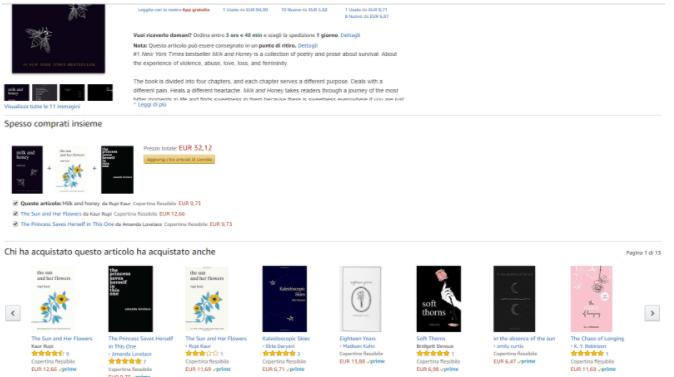 sistema di raccomandazioni algoritmi