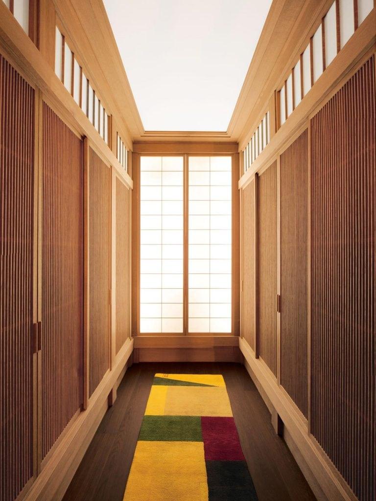 Holzarbeiten für Dressing Room mit Lichtkonzept