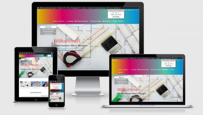 Malermeister WordPress Webdesign mit Responsiv für mobile Benutzerfreudlichkeit