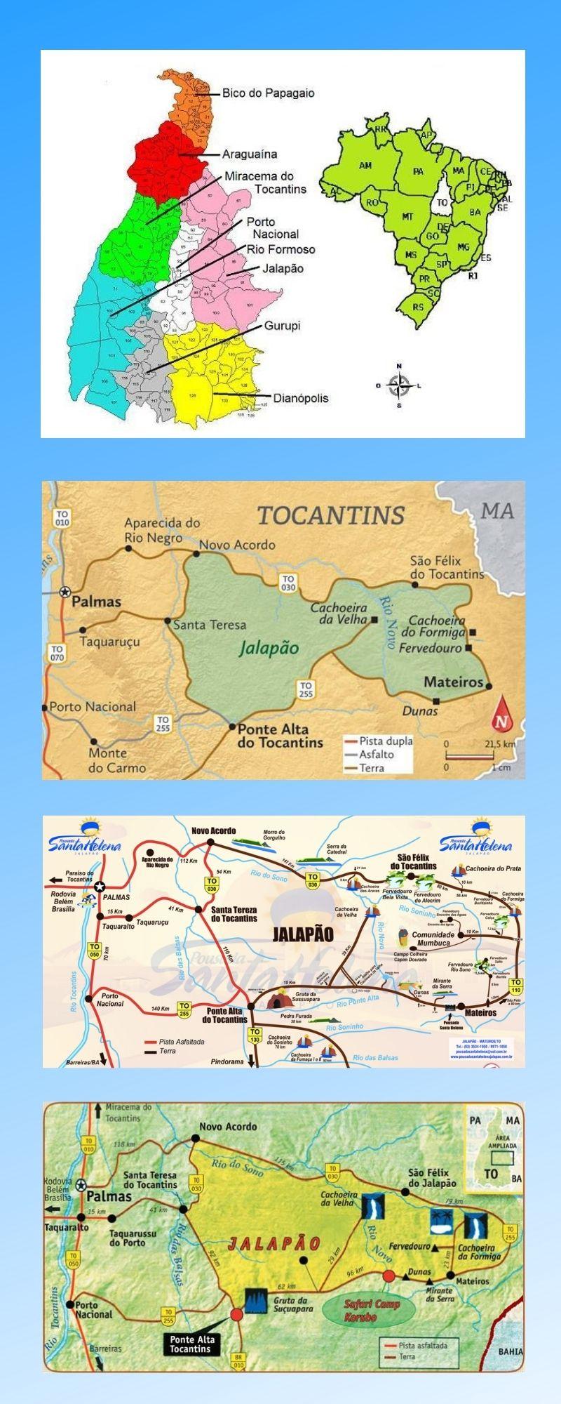 Infográfico Atrações Turísticas do Tocantins 2
