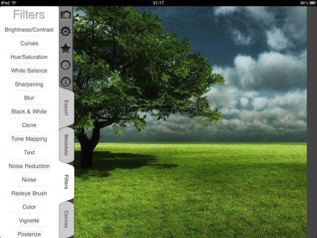 7 applications de retouche photos sur l'Ipad 4