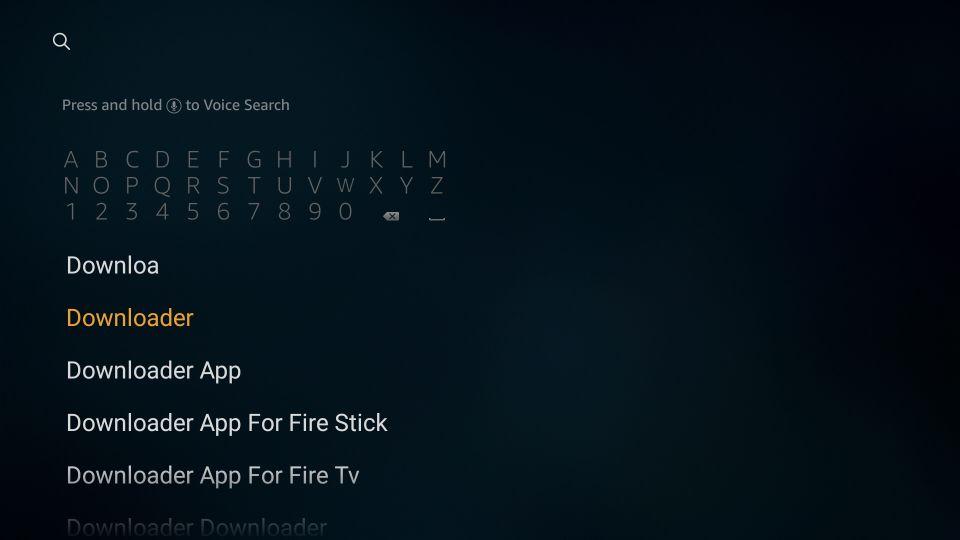 click the downloader option nova tv on fire tv stick