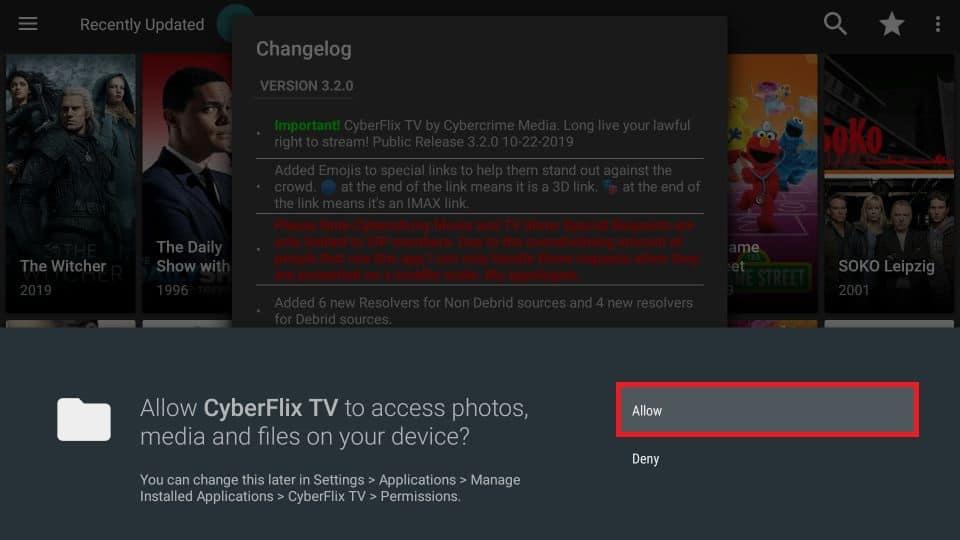 Cyberflix TV apk for Firestick