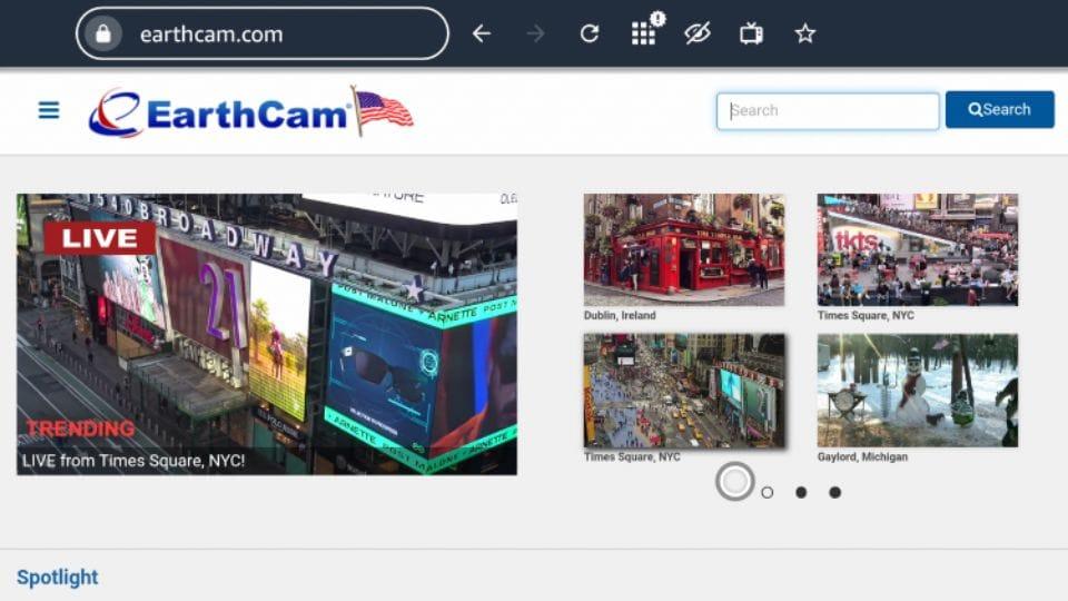 set up EarthCam on Firestick