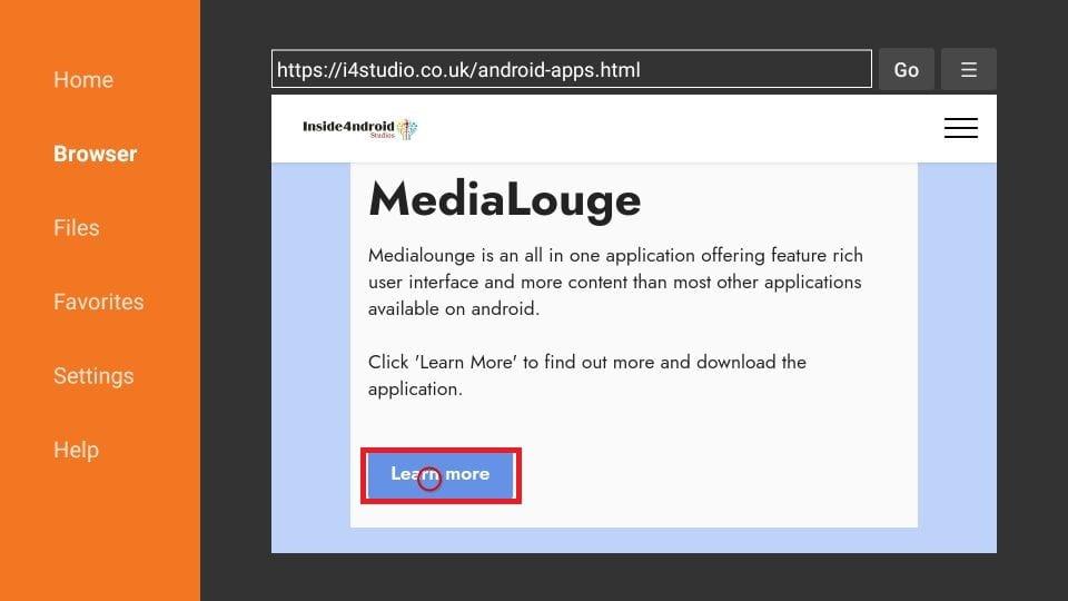 Media Lounge on FireStick