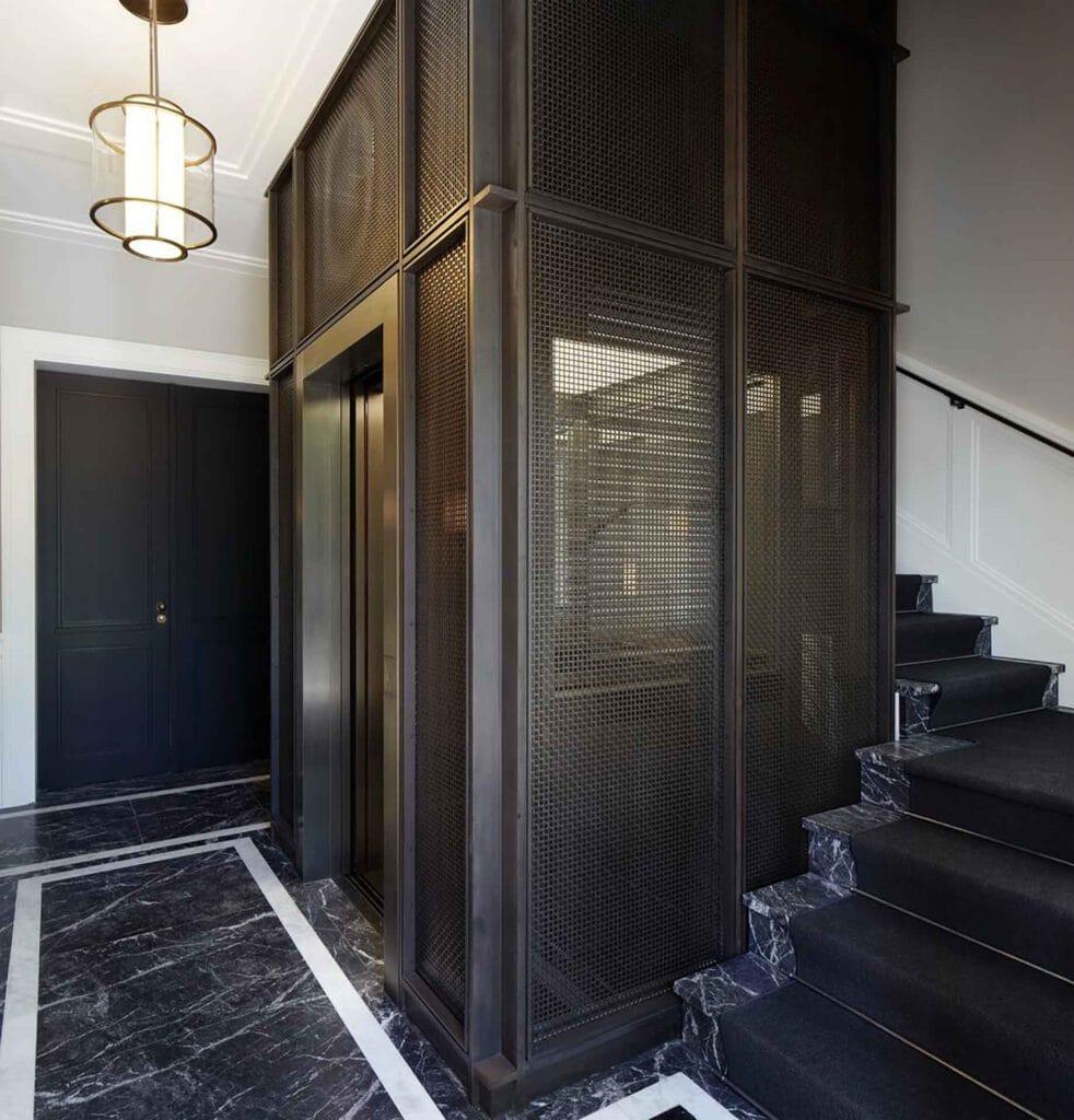 Smart elevator in Berlin.