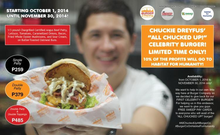 Get ALL CHUCKED UP at Burger Company for Habitat for Humanity