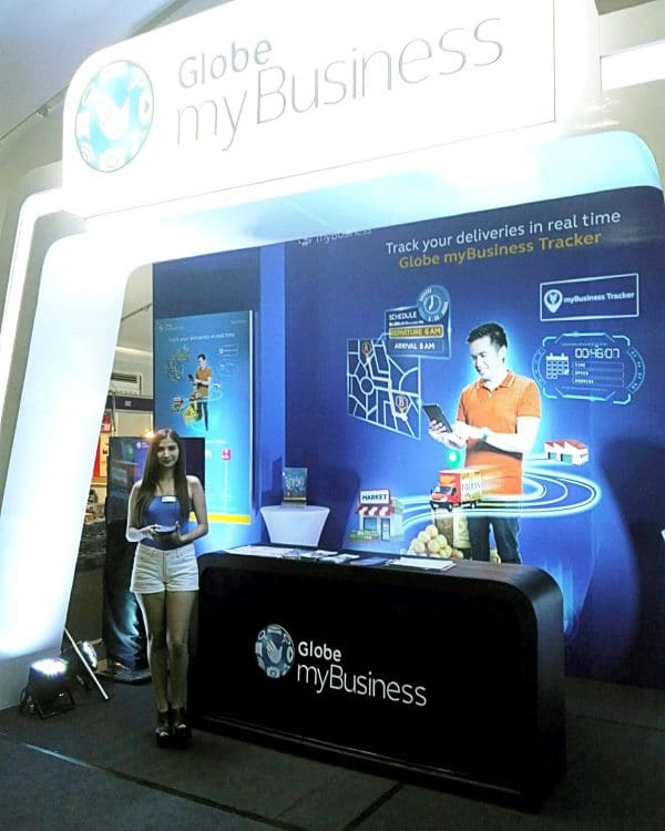 Check out the Globe myBusiness Tracker at the Manila International Auto Show 2016