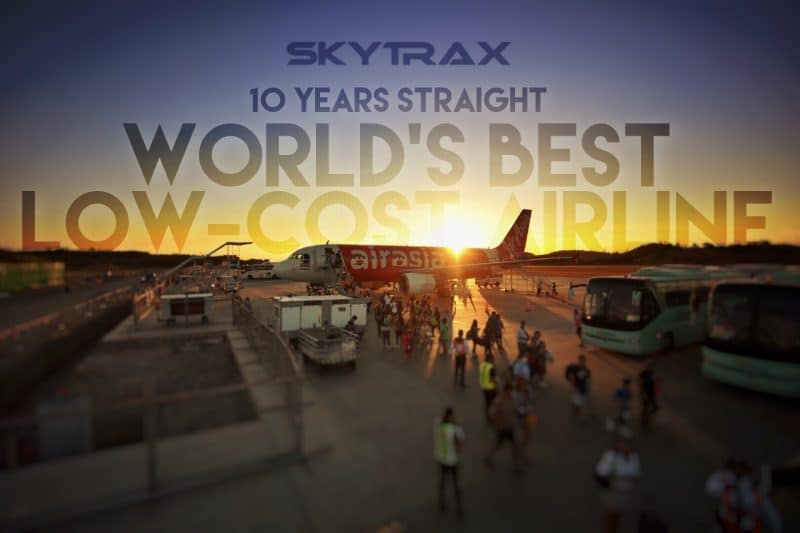AirAsia wins World's Best Low-Cost Airline by Skytrax for 10 consecutive years!
