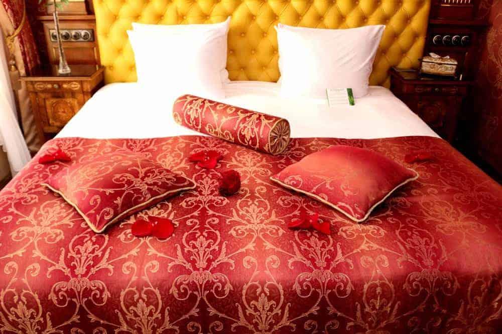 King size bed at Ramada Hotel