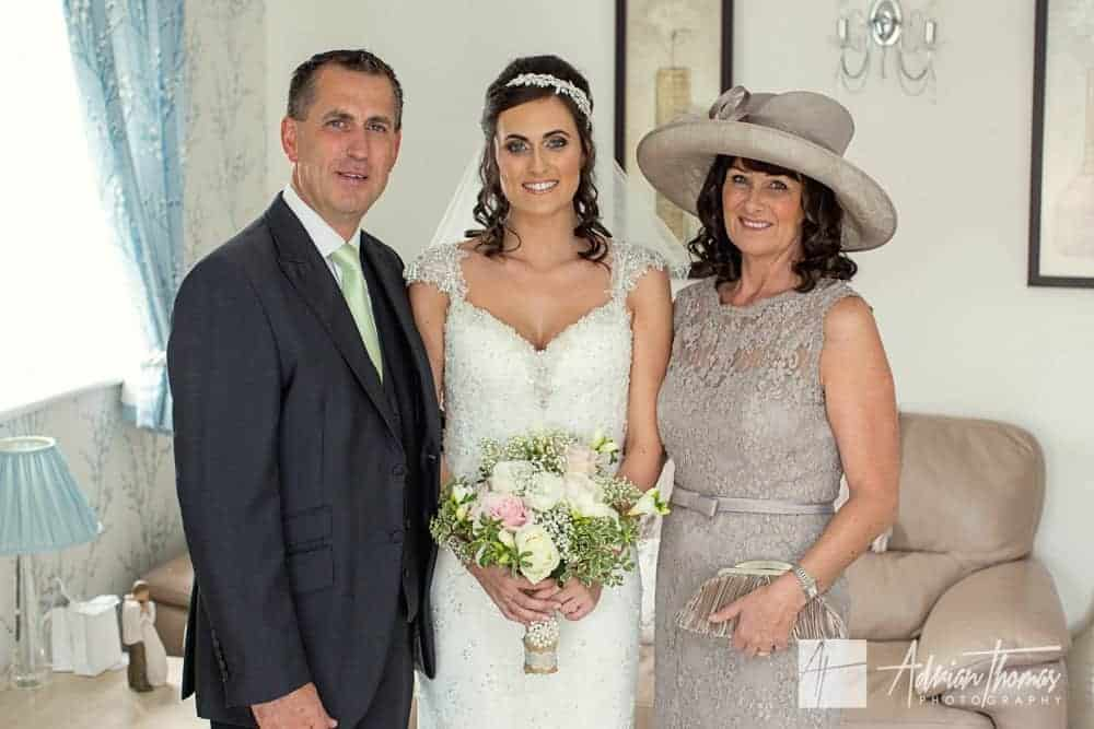 Bride and parents.