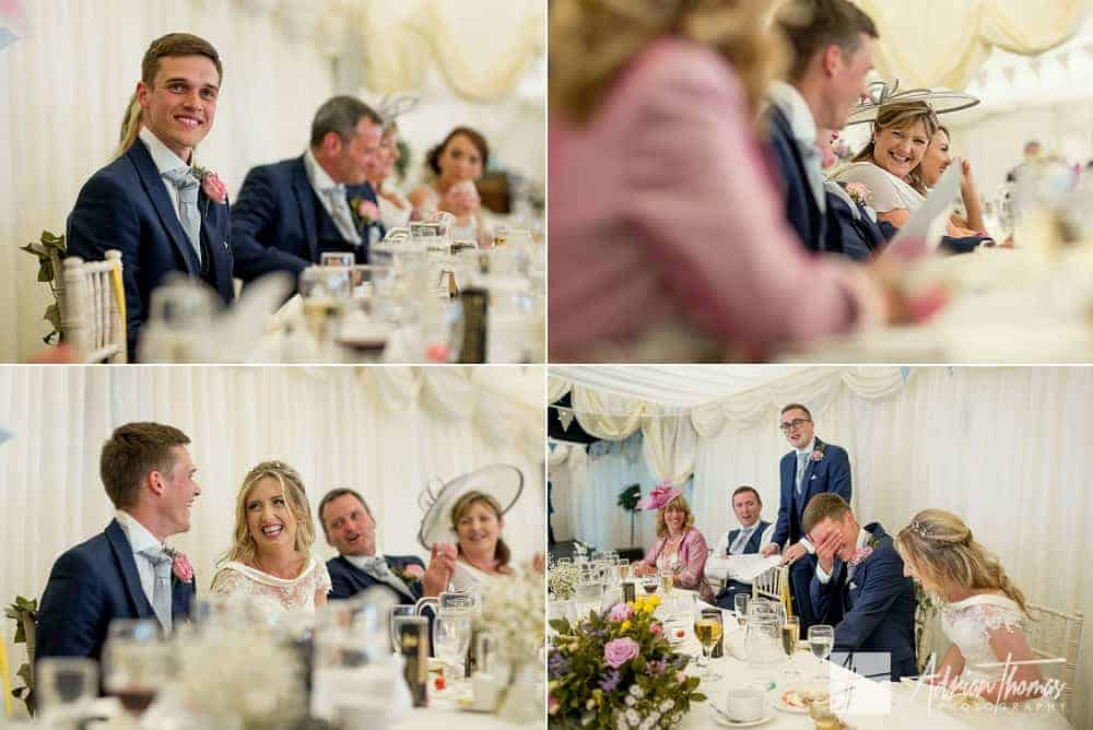 Top table speeches at Cardiff Wedding Venue New House Hotel