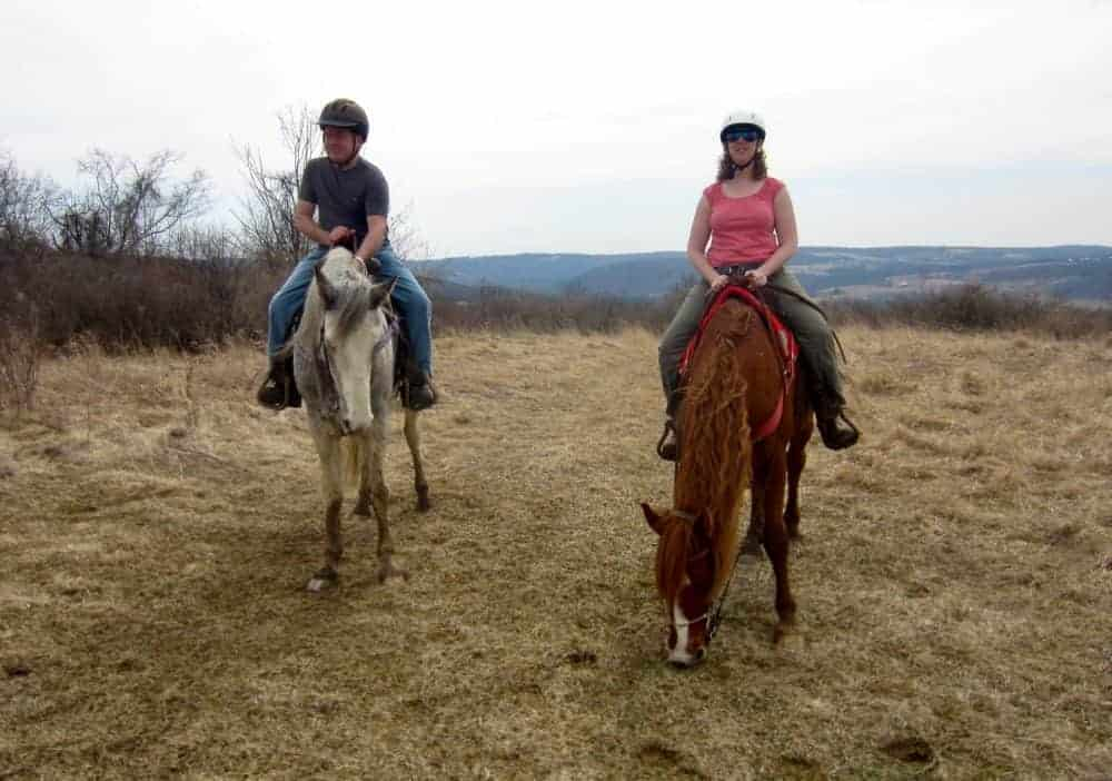 Hitting the trail in early spring at painted bar stables in the finger lakes.
