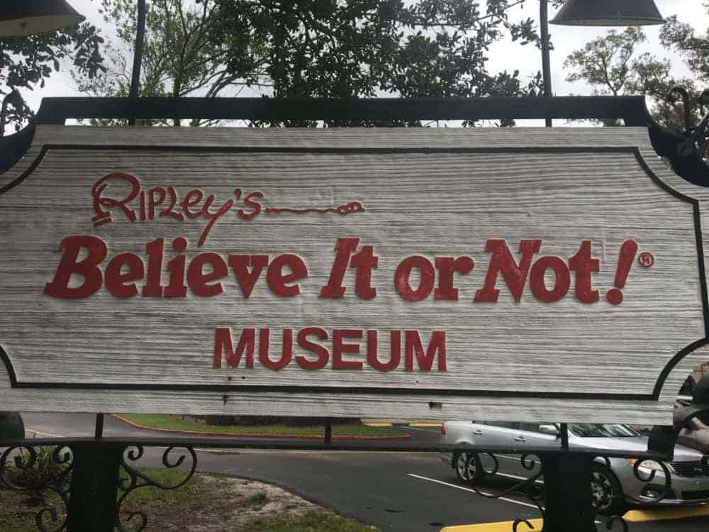 The sign at the original ripley's museum