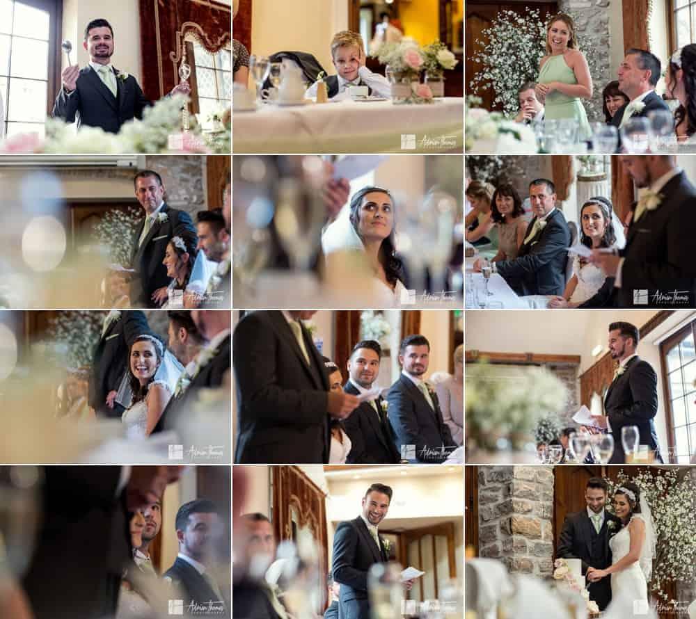 Speeches and wedding reception.