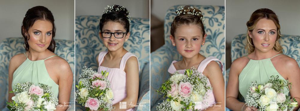 Bridesmaids portrait images.