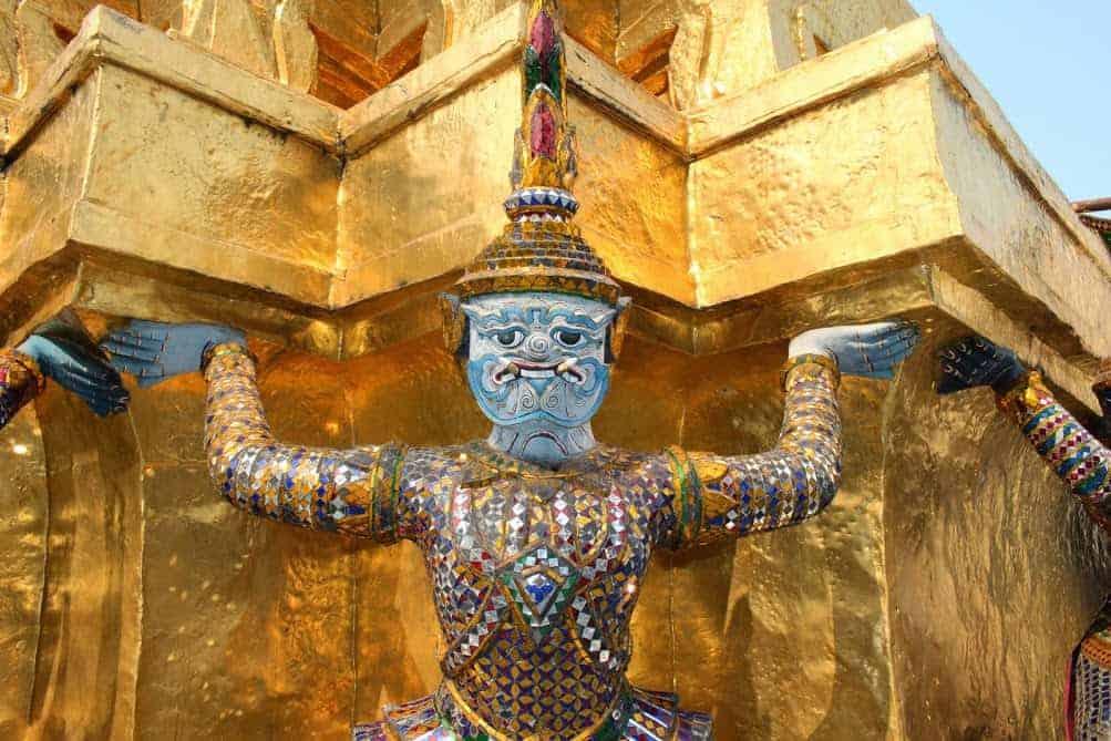 Thai monster temple god