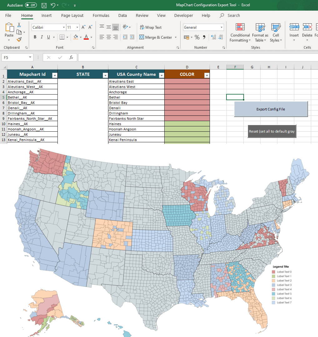 how to make a map using Excel and MapChart