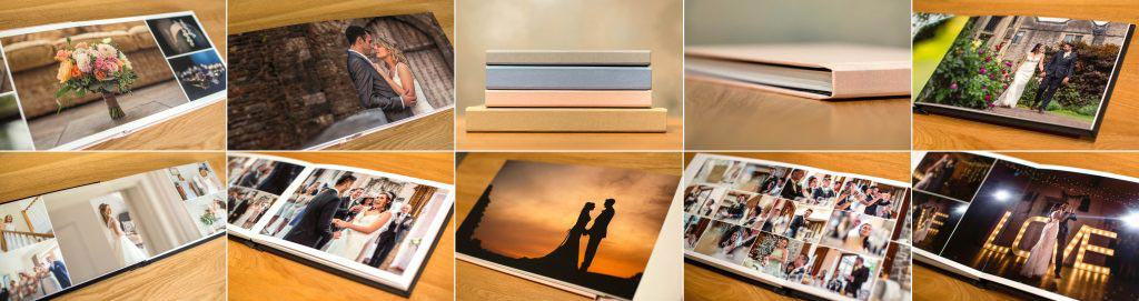 Image showing a selection of wedding albums and Digital Download Your Images.