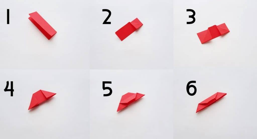 origami poinsettia instructions