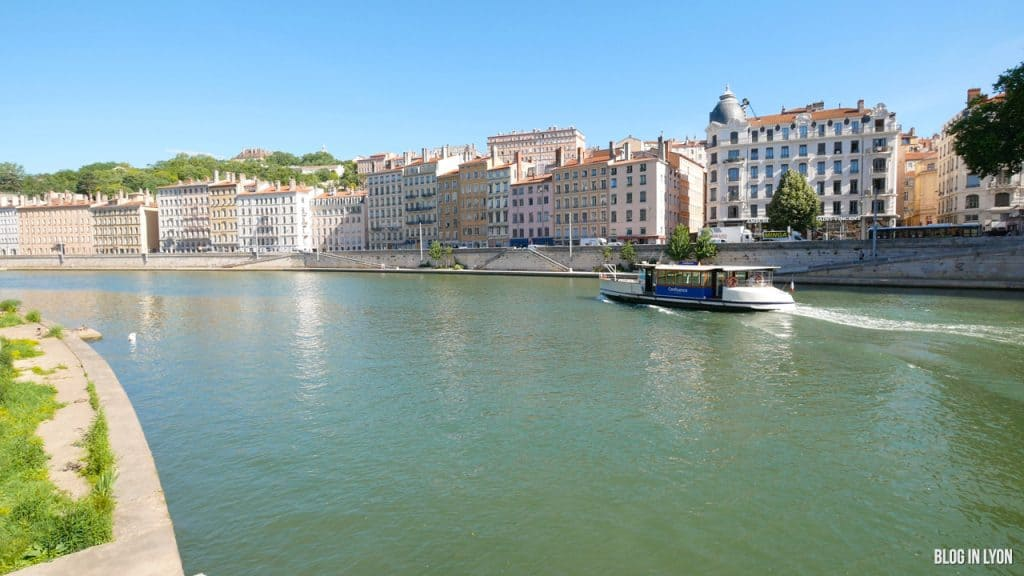 Visiter Lyon - Quai Romain Rolland Vaporetto   Blog In Lyon